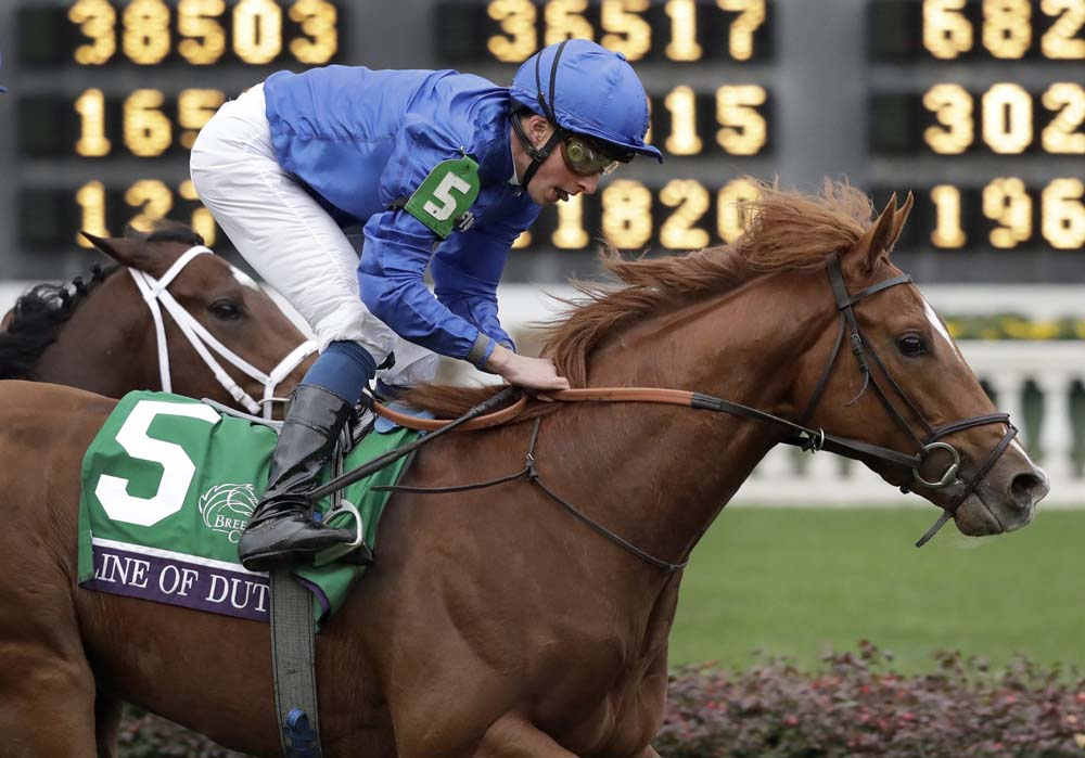 Line of Duty ridden by William Buick provided Europe with its first winner at this year's Breeders' Cup.