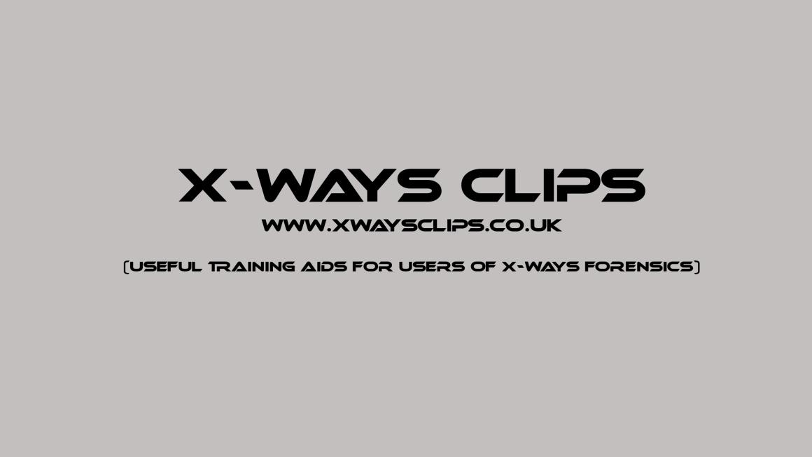 X-Ways Clips Logo