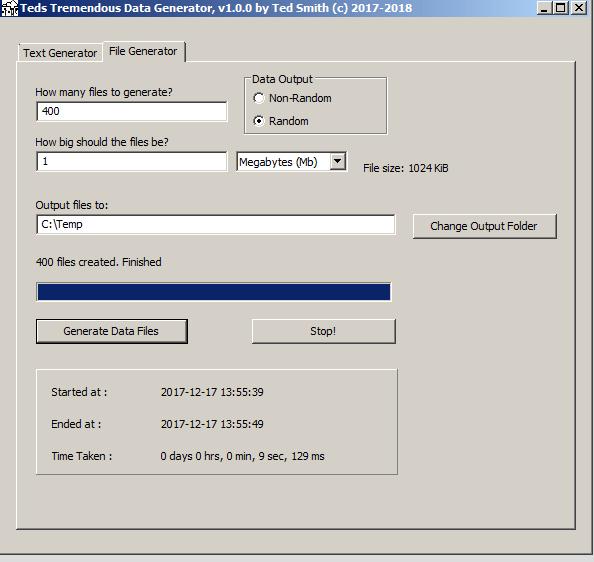Random file generation