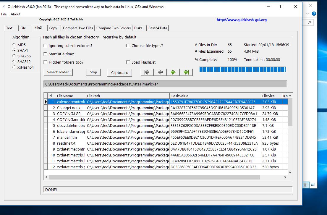 QuickHash v3 0 0 Is Out Now!   QuickHash GUI