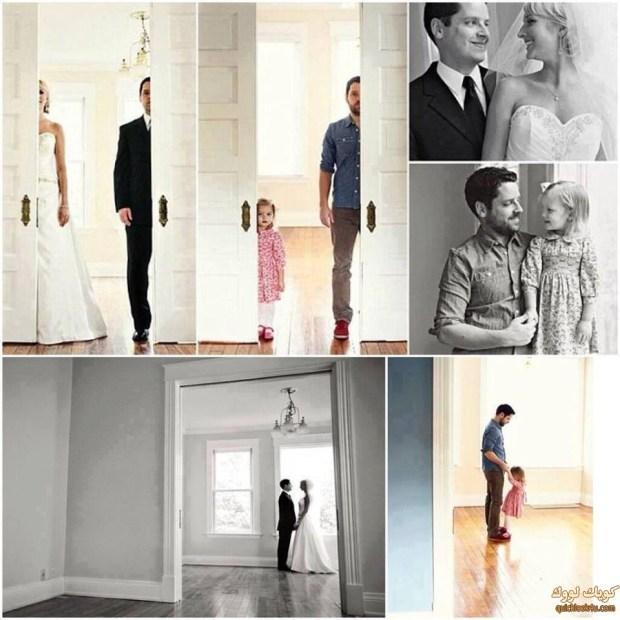 بعد وفاة الزوجة بالسرطان احيا ذكراها باعادة تصوير الزفاف مع ابنتهما