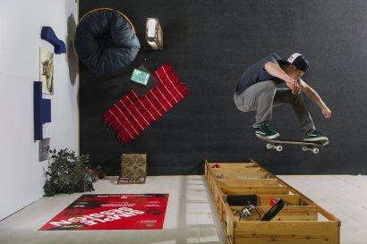 Simon Stricker skating sideways
