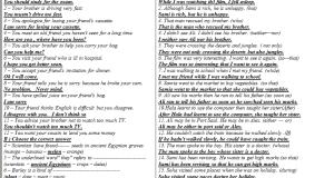 خلاصة مراجعة الانجليزي للصف الثالث الاعدادي ترم ثاني