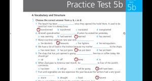 تحميل ومشاهدة اجابات Work Book Practice test 5 B للثالث الثانوي