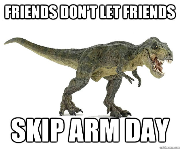 Image result for arm day meme