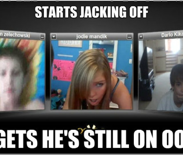 Starts Jacking Off Forgets Hes Still On Oovoo