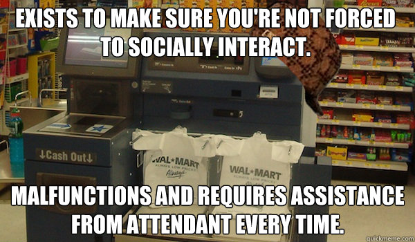 Image result for self checkout meme