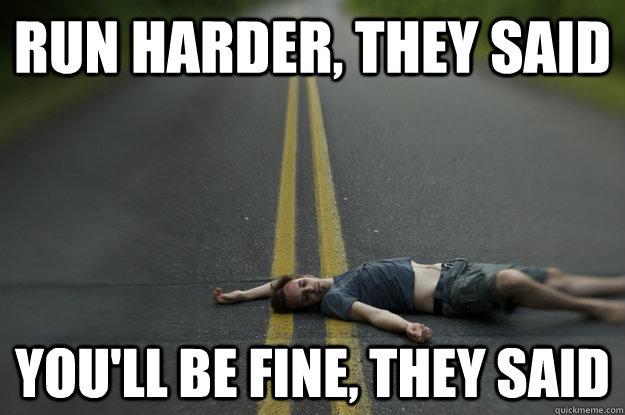 Image result for running is hard meme