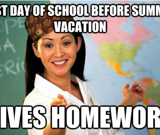 Last Day Of School Before Summer Vacation Gives Homework