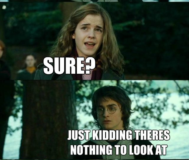 Hey Hermione Can I See Your Tits Sure Just Kidding Theres Nothing To Look At
