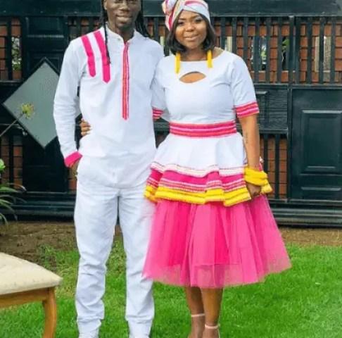Mpho Maboi and Reneilwe Letsholonyane married
