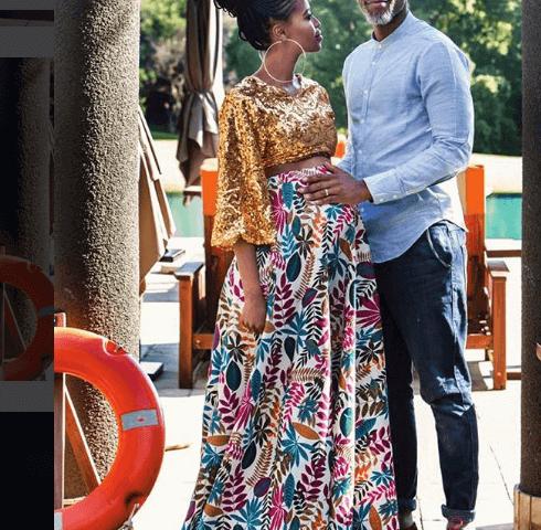 Thapelo Mokoena and his wife Lesego