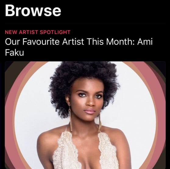 Ami Faku Apple Music