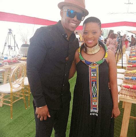 Salamina and Tshepo 'Howza' Mosese pregnant