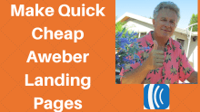 how to make cheap landing pages with aweber