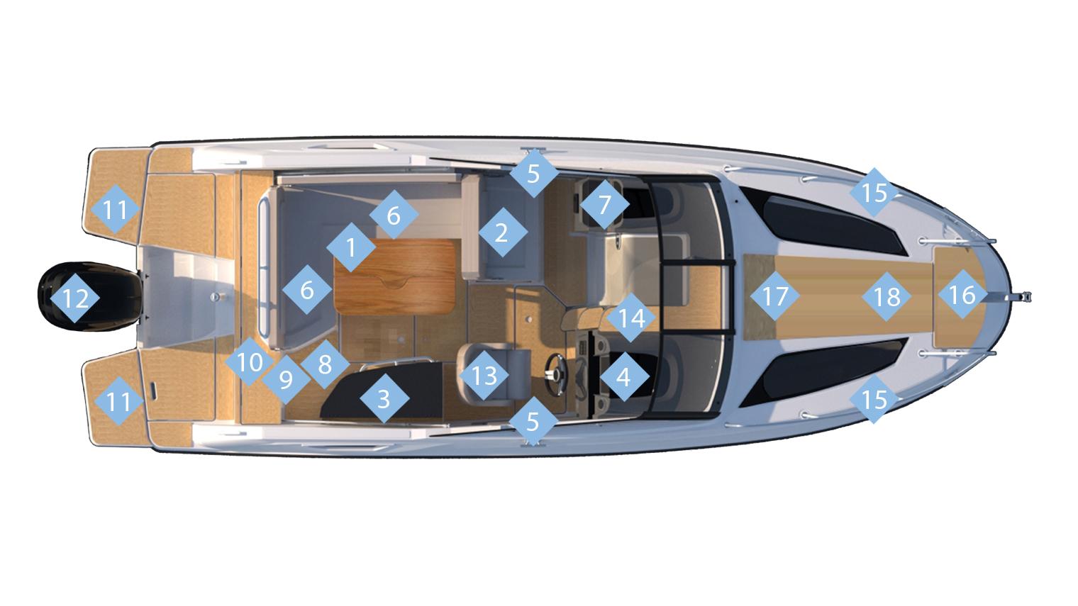 Activ 755 Cruiser Quicksilver Boote