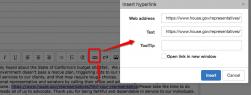 QSP Announcement inserting hyperlinks