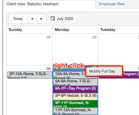QSP Modify Full Day Mode