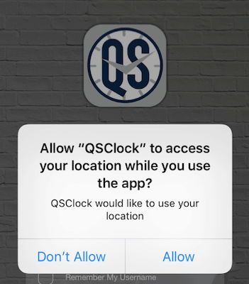 QSClock location request