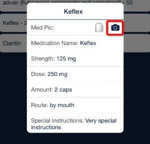 medication tracking details