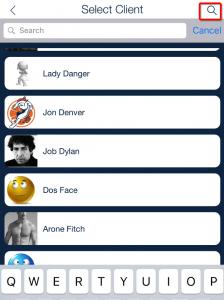 client list schedule view_qsp mobile app