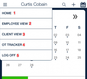 employee schedule menu options_qsp mobile app
