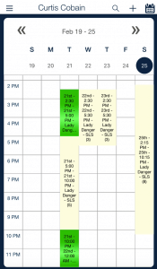 schedule week view_qsp mobile app