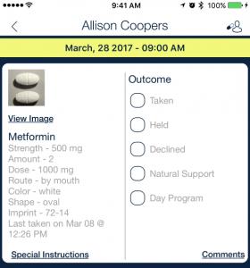 administering morning medication_qsp medication tracking app