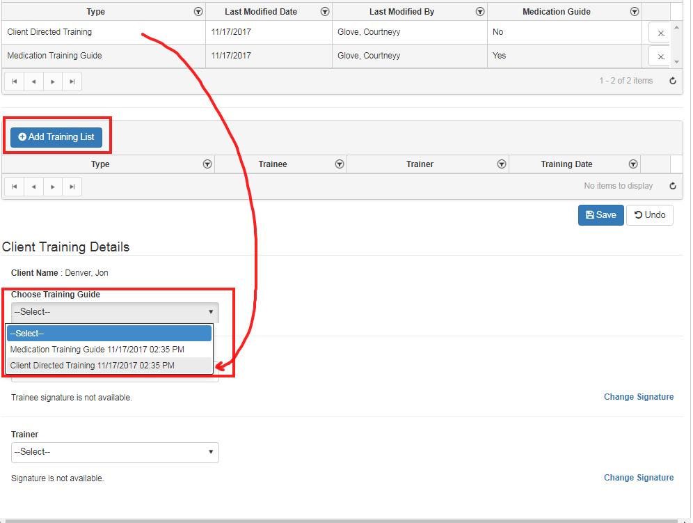 client training list - qsp software