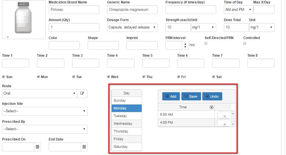 scheduled medication times_qsp medication tracking app