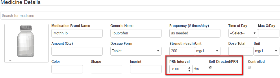 PRN self-directed medication_qsp medication tracking app