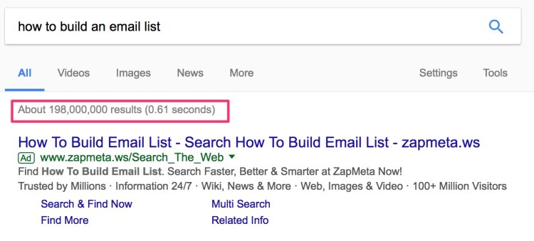 how to build an email list Google Search