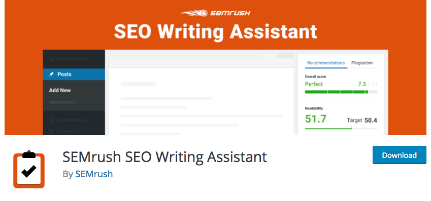 SEMrush Writing Assistant Plugin