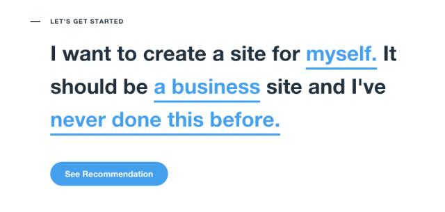 Step 1 in making a Wix Website