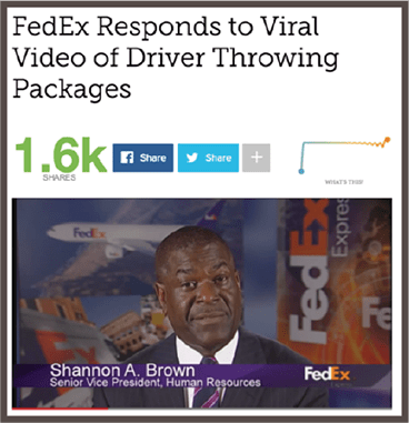 Fedex Viral PR Response