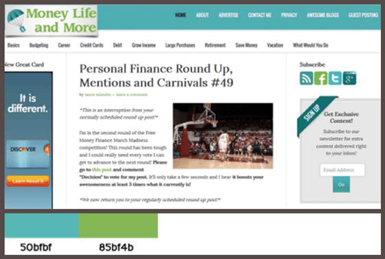 Cool Finance Site Color Scheme Site