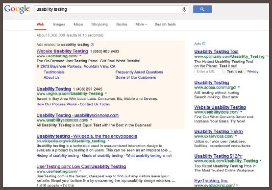 Google PPC Ad