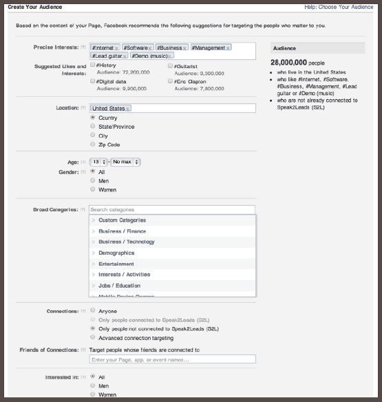 Facebook PPC Targeting Options