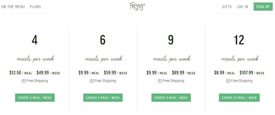 Freshly Pricing
