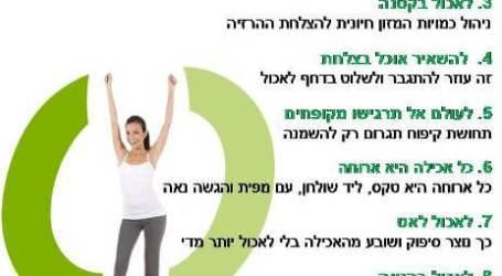 עשרה חוקים בסיסיים להרזיה – לשילוב עם תפריט דיאטה מהירה