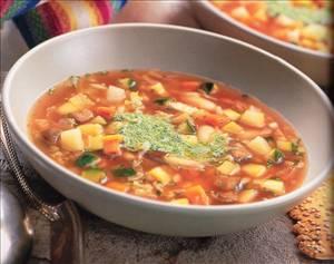 מרק ירקות איטלקי ב- 100 קלוריות למנה