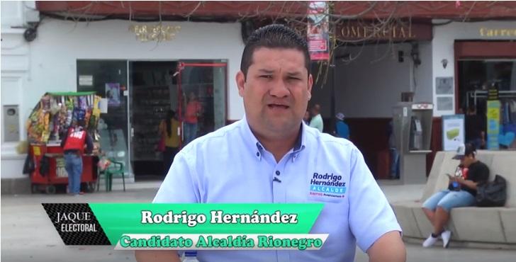 Rodrigo Hernández candidato alcaldía Rionegro 2020 – 2023