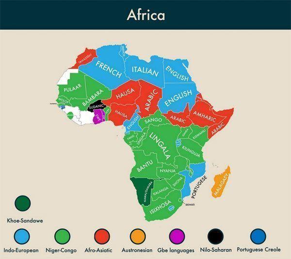 Lenguas cooficiales en África