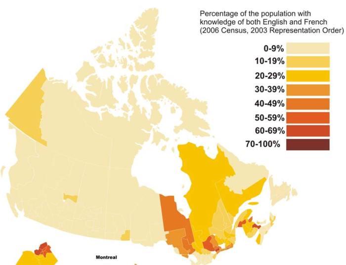 Idiomas francés inglés en Canadá