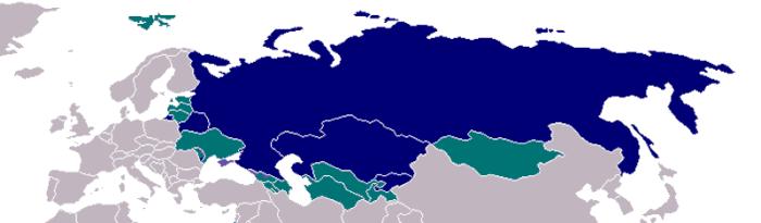 Uso del ruso en el mundo