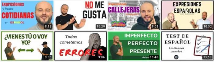 Canales Youtube aprender español
