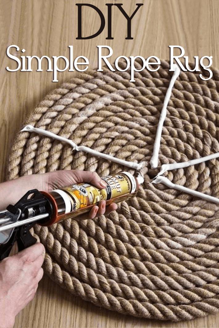 DIY Simple Rope Rug Tutorial