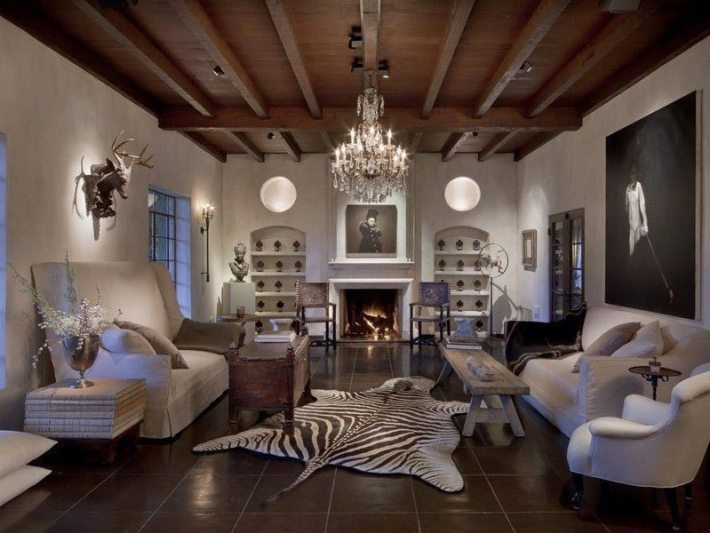 Living Room Designs With Exposed Beams (11)
