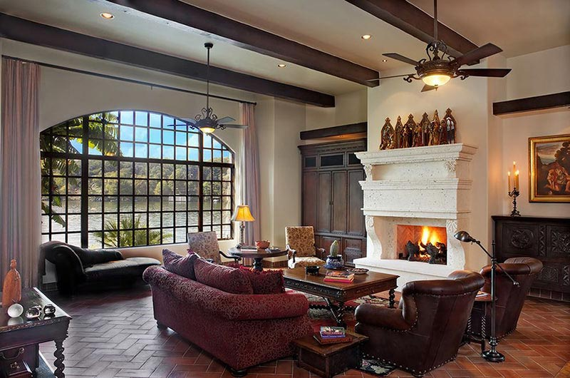 Living Room Designs With Exposed Beams (2)