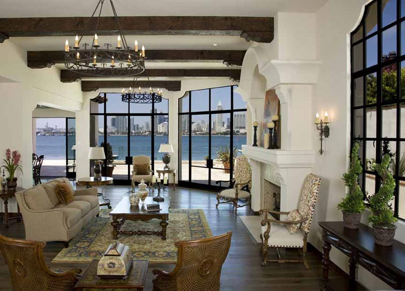 Living Room Designs With Exposed Beams (7)